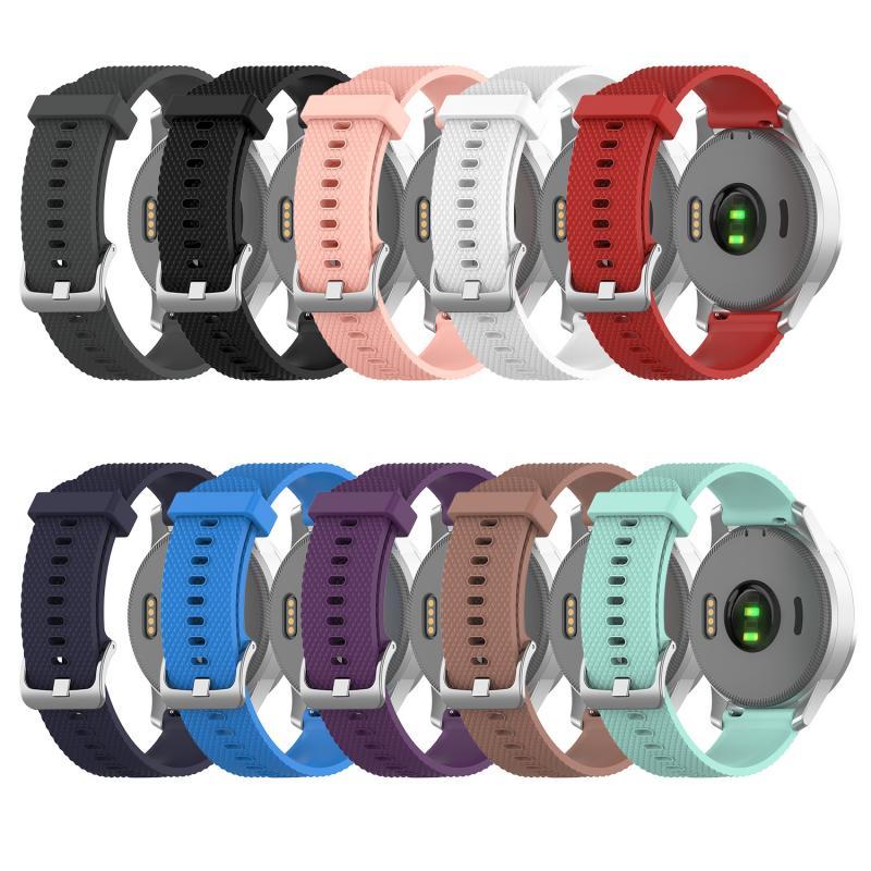 Correas de silicona para relojes Garmin vivoactive4S, correas de silicona de 18mm para relojes inteligentes, accesorios para relojes deportivos multicolores