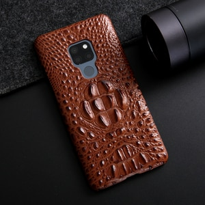 Luxury Genuine Leather Phone Case For Huawei Mate 20 Pro Back Cover For Mate 20 Case 3d Crocodile Grain Hard Case Coque Funda
