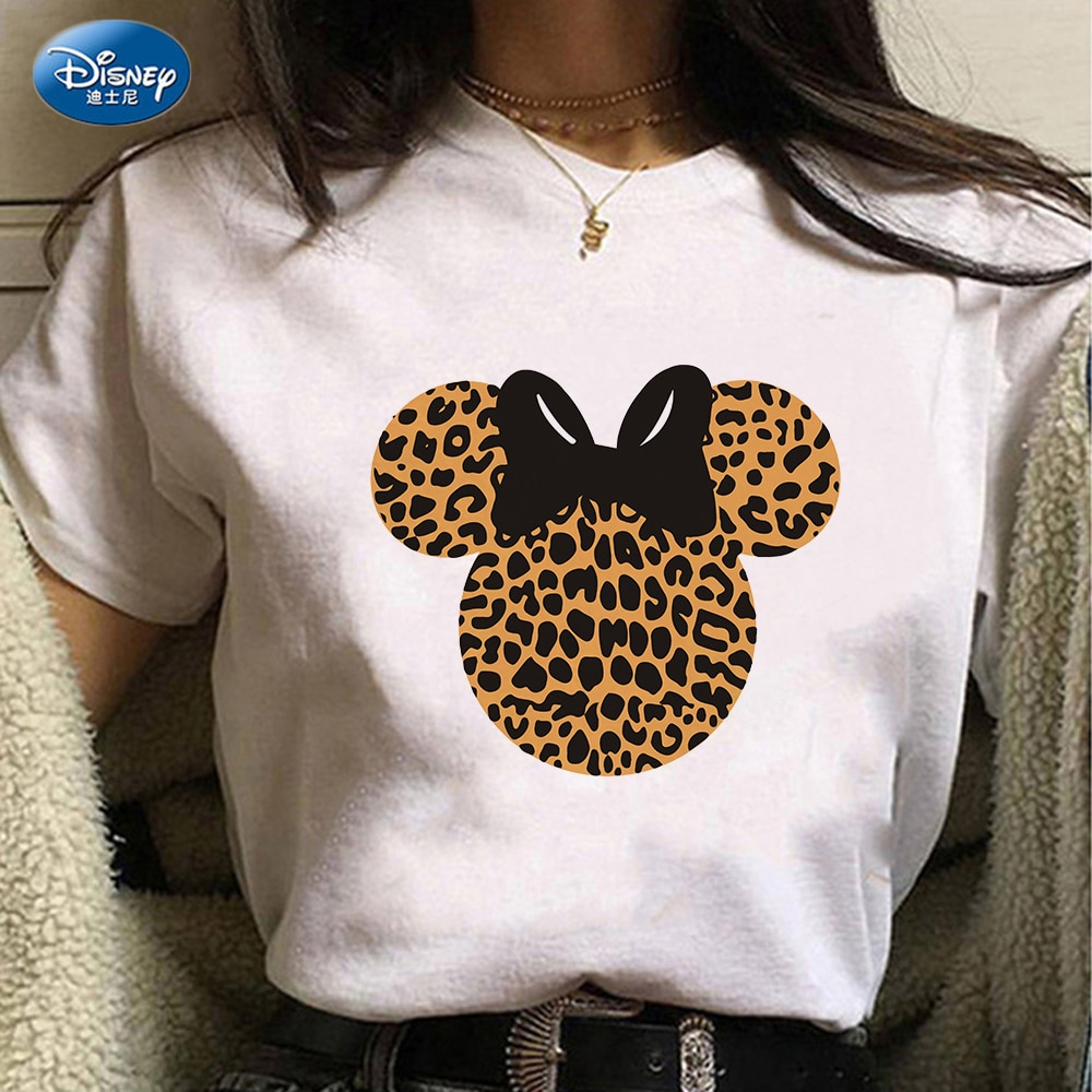 Camiseta con estampado de cabeza de Minnie Mouse para Mujer, Camiseta con...