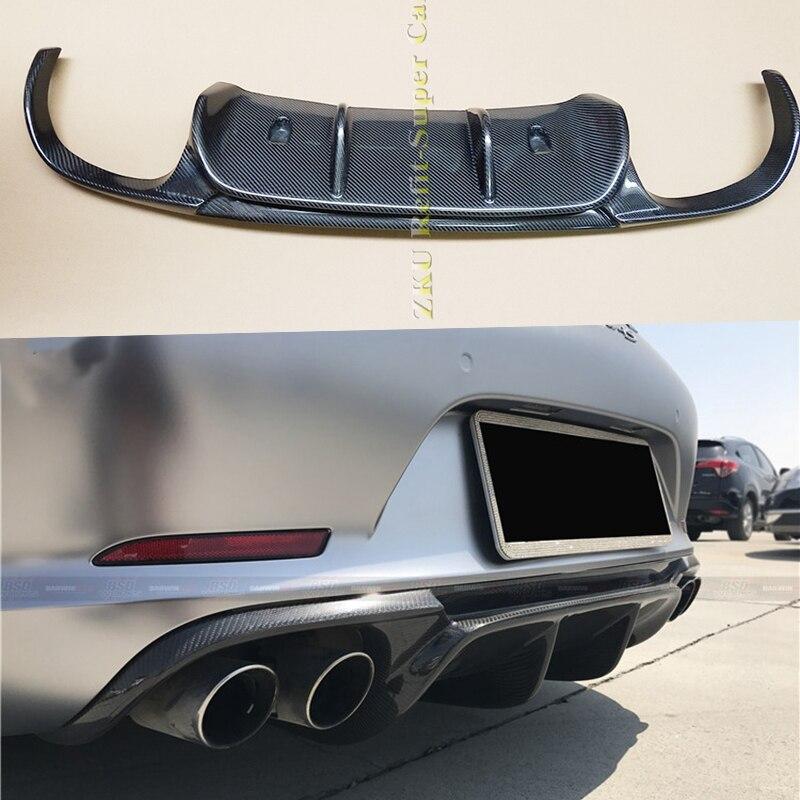 Diffuseur de pare-chocs arrière en Fiber de carbone   Style VRS, pour Porsche 911 991 Carrera & Carrera S modèles 2012 2013 2014 2015