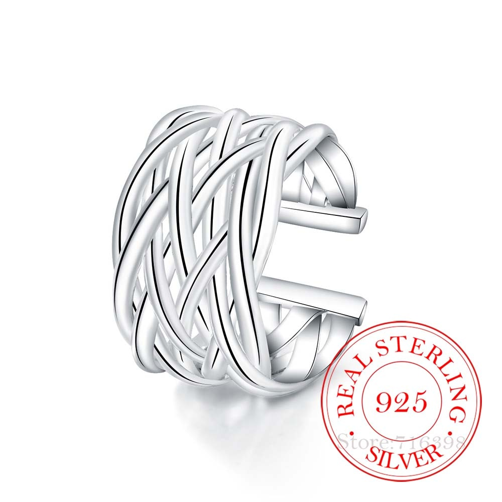 AliExpress - High-quality 925 Sterling Silver Rings for Women Men Female Double Cross Cz Crystal Infinity Ring Bague Argent 925 Anillos Mujer