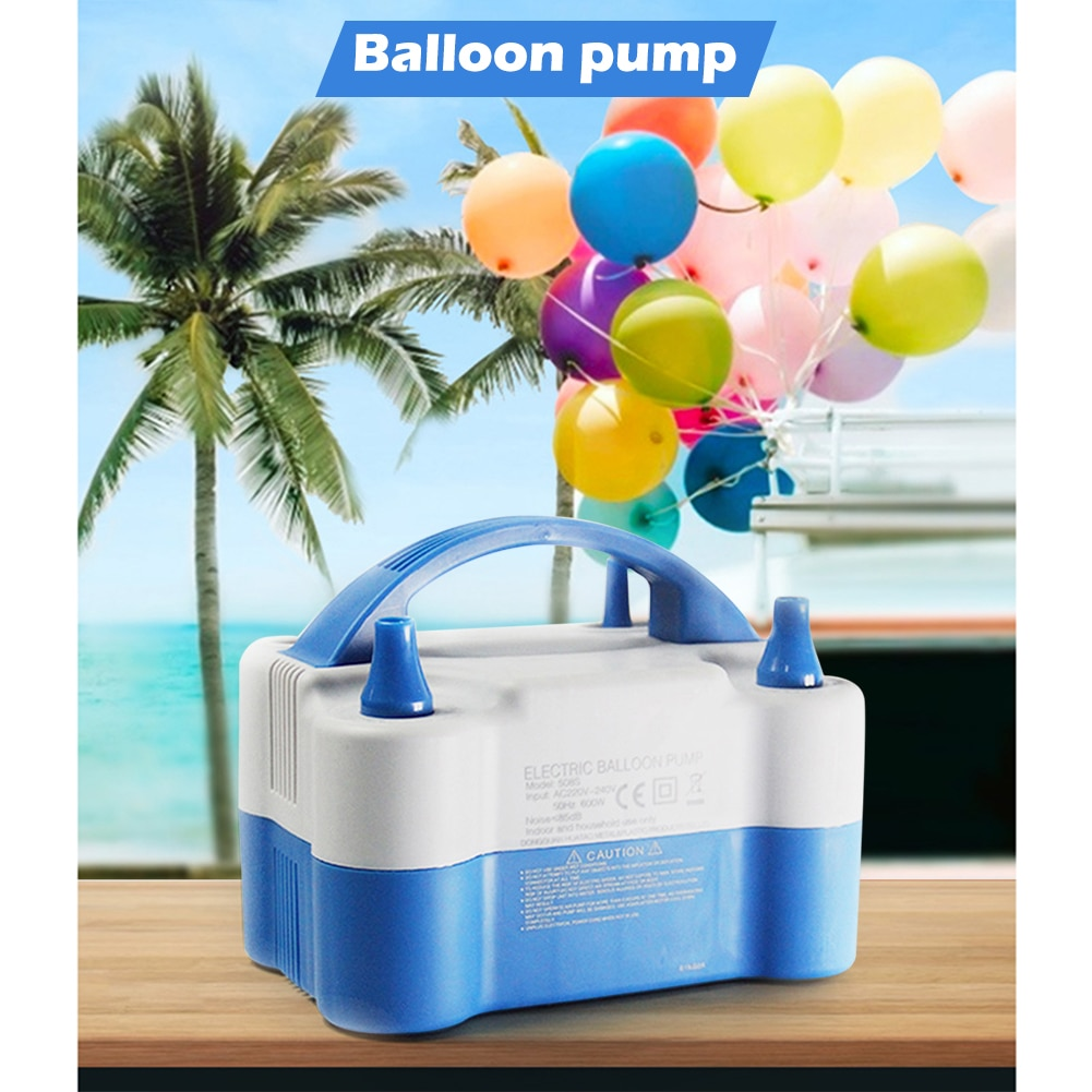 Electric Air Balloon Pump Portable Inflator Dual-Nozzle Globos Machine Air Balloon Blower for Party Balloon Arch Column Stand enlarge