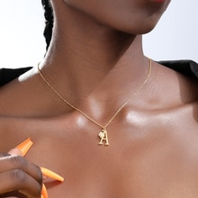 Colliers avec fleur en cristal, initiale, A-Z lettres, pendentif avec breloque de lalphabet pour femmes et filles, bijoux cadeaux de noël