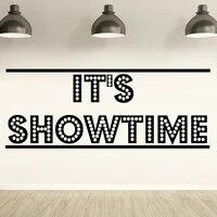 Its Showtime     autocollant Mural en vinyle pour salle de jeux  cinema  maison  decor de salon  pepiniere  enfants  Y776