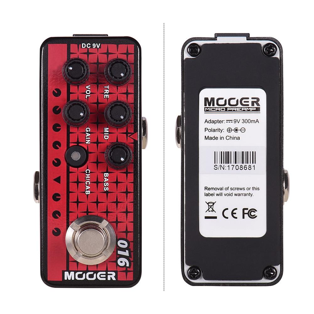 MOOER 016 Phoenix Digital Preamp Guitar Effect Pedal Cabinet Simulation Dual Integrated Speaker Simulation MICRO PREAMP Series enlarge