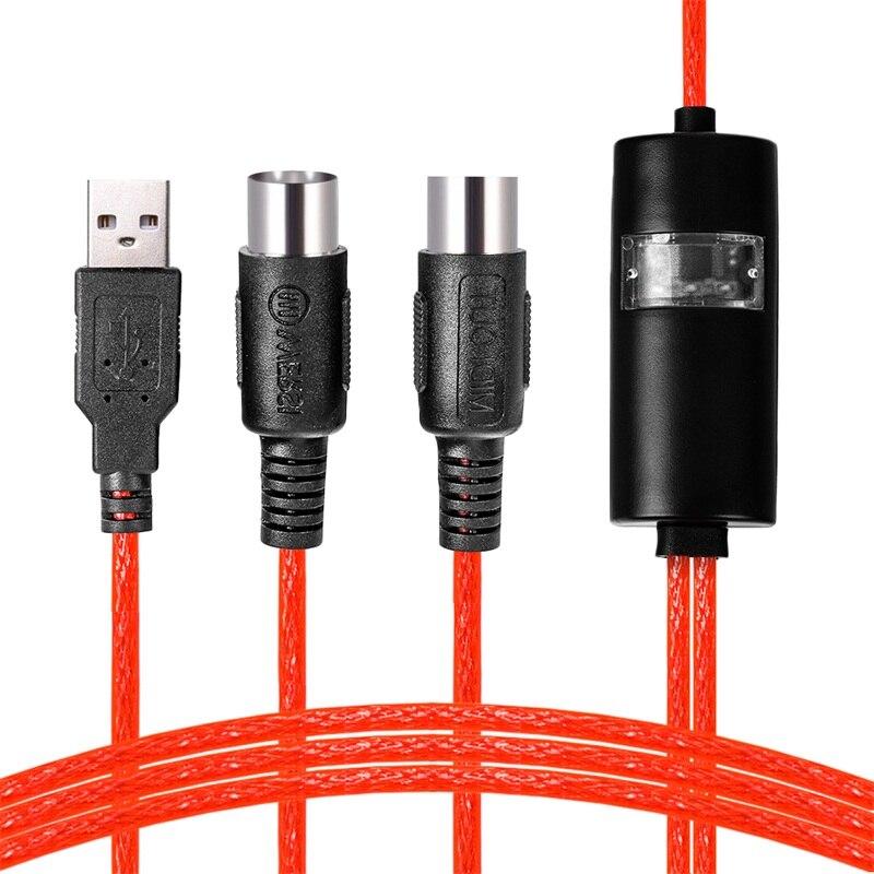 Convertidor de Cable adaptador de interfaz USB a 2 MIDI para PC...