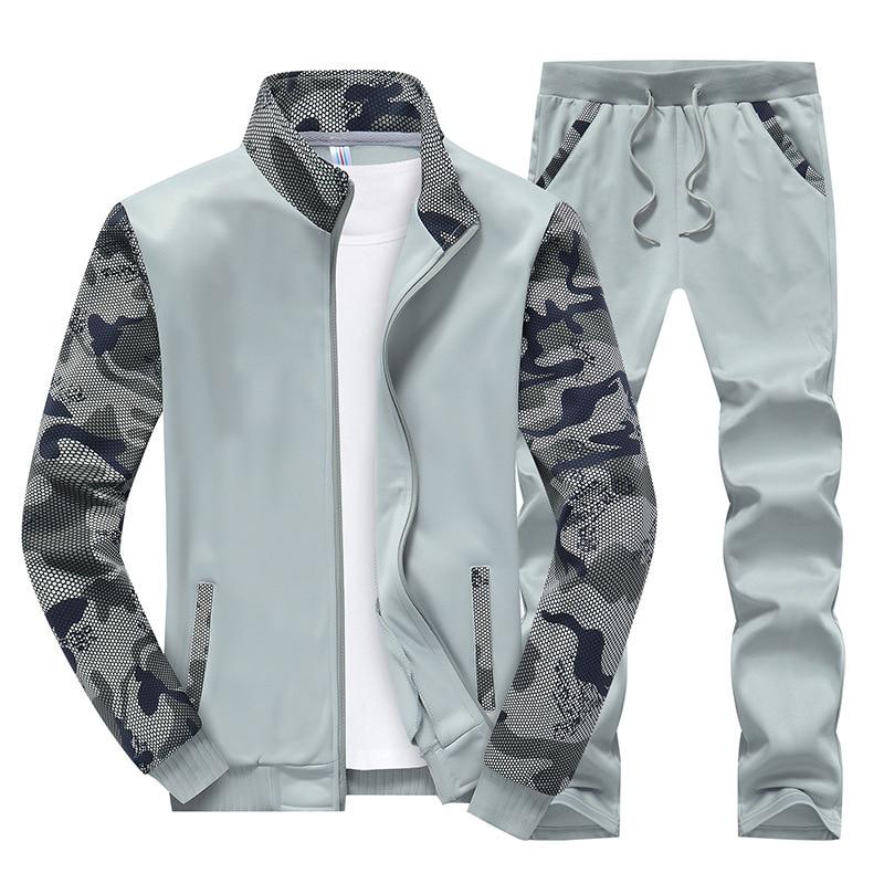 Conjunto de ropa deportiva para hombres de primavera pevsf, chándal para hombre, prendas de vestir para hombre, sudaderas con retazos para hombre, chándal de cuello alto 4XL, TA046