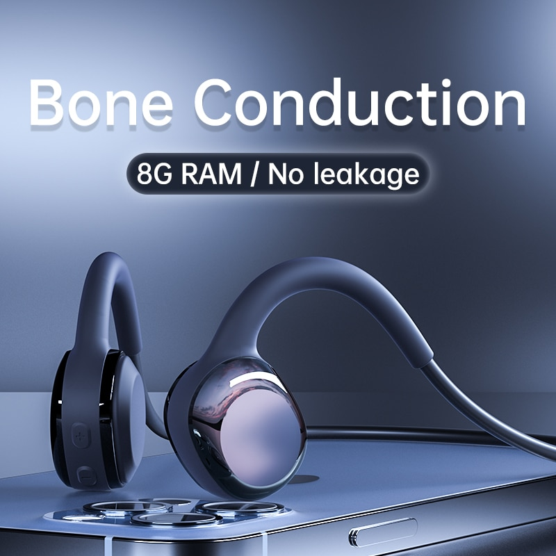 Fone de Ouvido sem Fio Estéreo com Microfone para Todos os Telefones Condução Óssea Bluetooth Running Headset Mais Resistência hd Inteligentes 5.0
