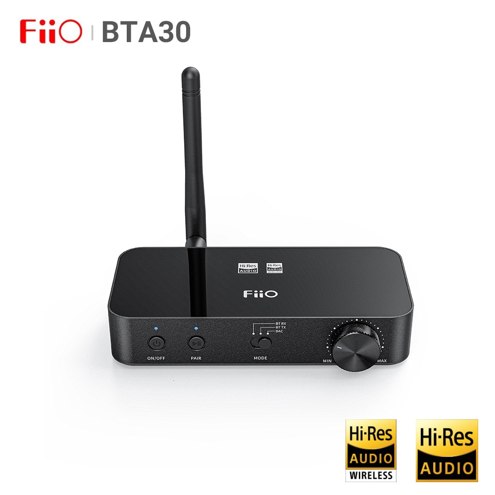 FiiO BTA30 HiFi Audio USB DAC AK4490 Headphone Amp DSP Wireless Bluetooth 5.0 PC TV Transmitter Receiver AptX HD/LDAC/DSD64