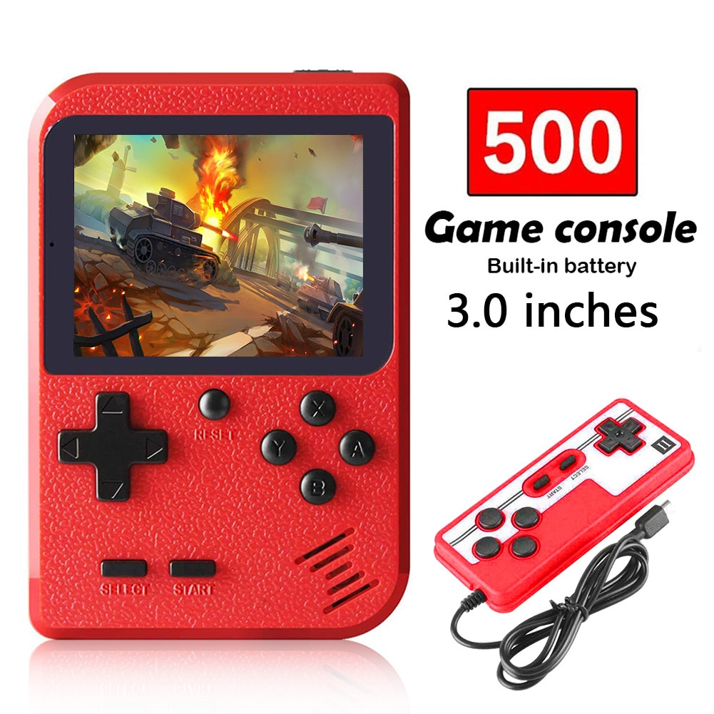 400 in 1 Handheld Games Console 8 Bit Retro Video Game Player 3.0 Inch Mini Pocket Gamepad Support Two Players for Kids Gift