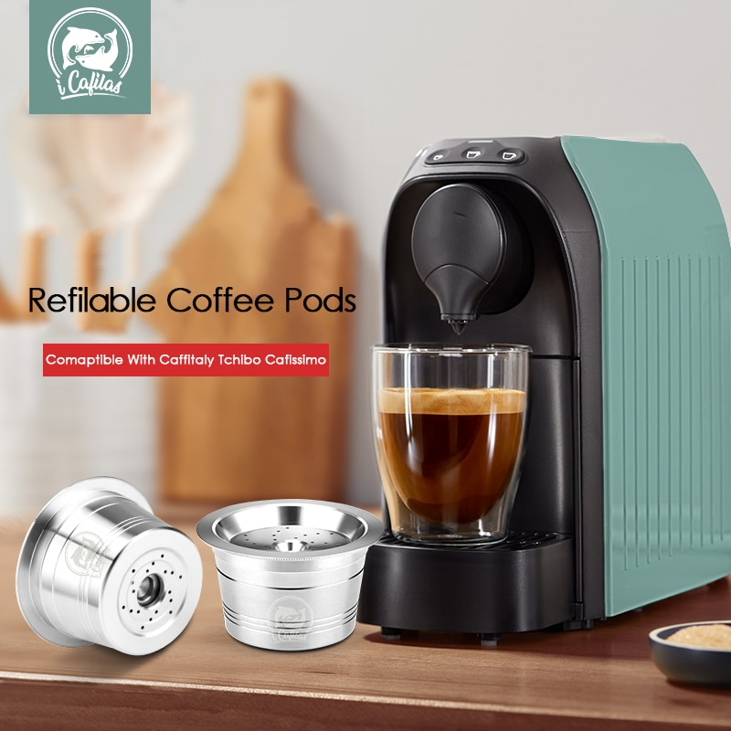 aliexpress - iCafilas Stainless Steel For K-fee Coffee Filters Capsule Pods Tamper Reusable Refillable For Caffitaly Tchibo Cafissimo Machine