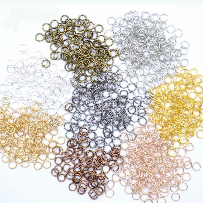 200pcs/lot 4 5 6 7 8 9 10mm Jump Rings Split Rings Connectors For Diy Jewelry Finding Making Accessories Wholesale Supplies