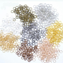 200pcs/lot 4 5 6 7 8 9 10mm Jump Rings Split Rings Connectors For Diy Jewelry Finding Making Accesso