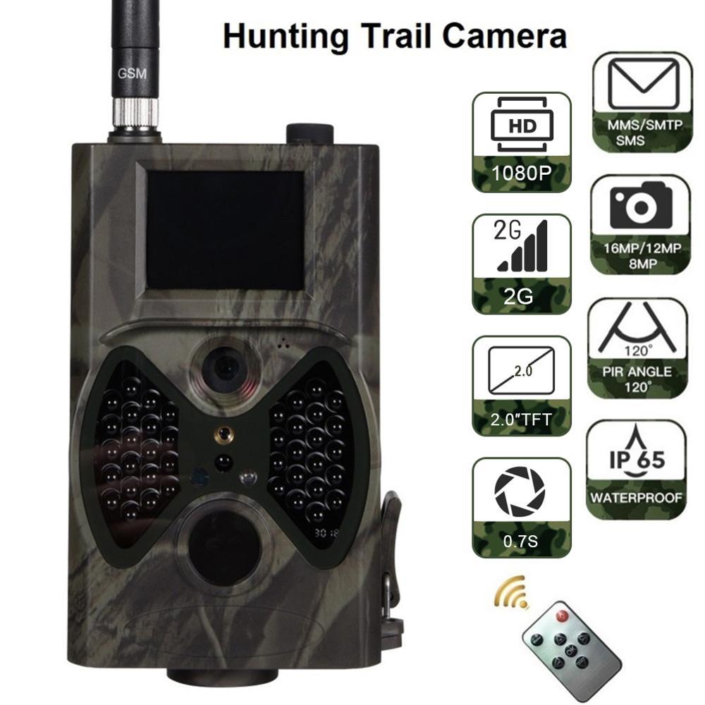 HC-300M 16MP 940nm IR Flash Night Vision Hunting Camera MMS Camera Trap Trail Camera MMS/GSM/GPRS 2G Photo Traps Wild Cameras