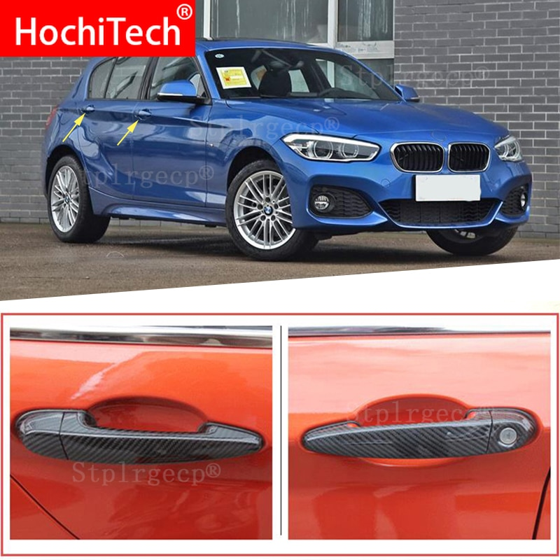 Alta calidad para BMW serie 1 E82 E87 F20 F21 2007-2019, accesorios 100%, Real fibra de carbono, cubierta de manija de puerta exterior de coche