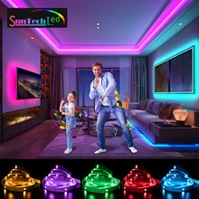 Suntech Led Strip,5m-30m SMD 5050 Bluetooth Music Led Lights, Phone App Remote Control,Decoration Fo
