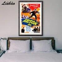 Raquette Firebug V010 1949  Affiche en soie personnalisee  Vintage  film classique  decoration murale  cadeau de noel