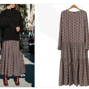 New Dress Summer Big Size 2020 Women Elegant Floral Ruched Long Sleeve O Neck Lady Clothes Fashion Party  A Line Dresses