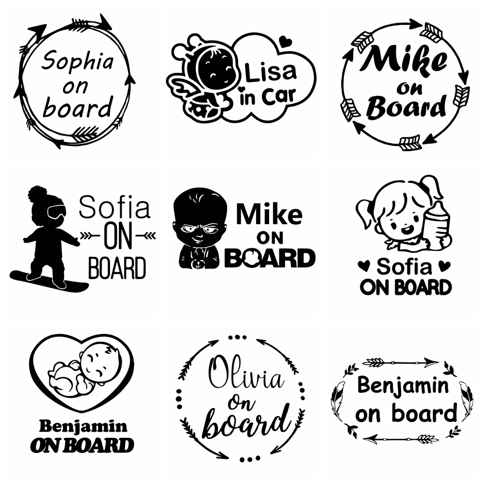 car stickers biker inside funny decal auto window body waterproof removable decor car styling cars accessories glue sticker pvc Kids Custom Name Decals Baby On Board Funny Car Vinyl Stickers For Cars Body Decal Window Sticker Decals Car-Styling Decor