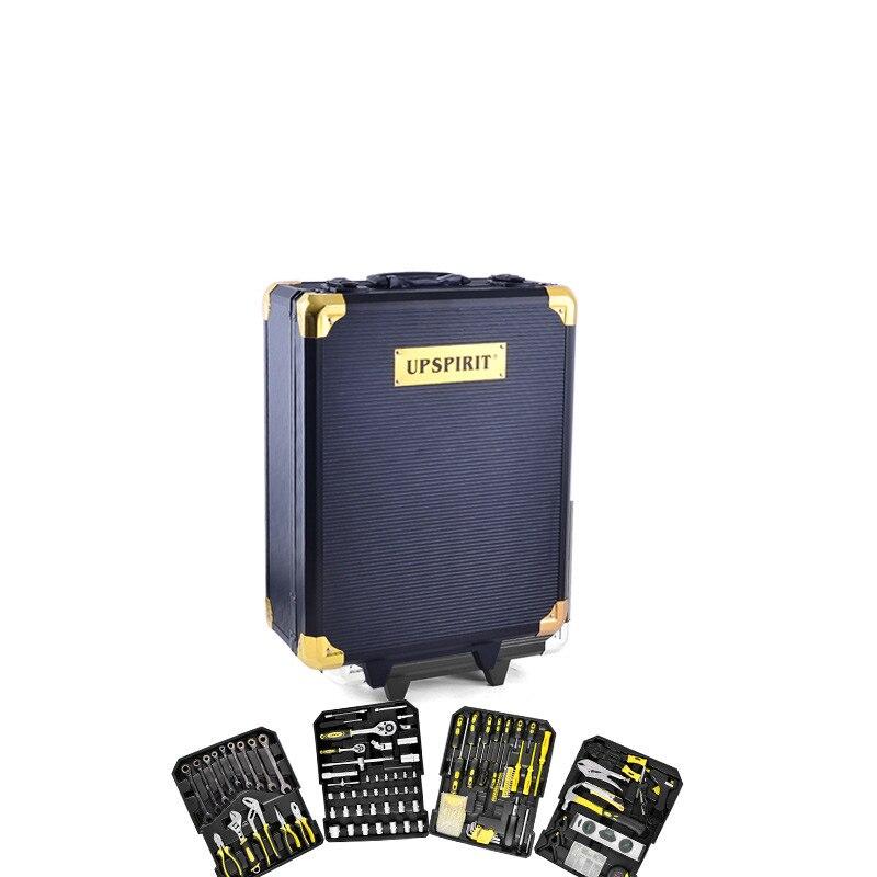 186 PCS tool box trolley household manual hardware tool kit  combination aluminum alloy manual tool set