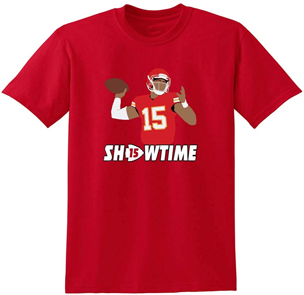 Camiseta roja de The Kansas City Mahomes Showtime para hombres y mujeres, nuevas camisetas divertidas Unisex, camiseta