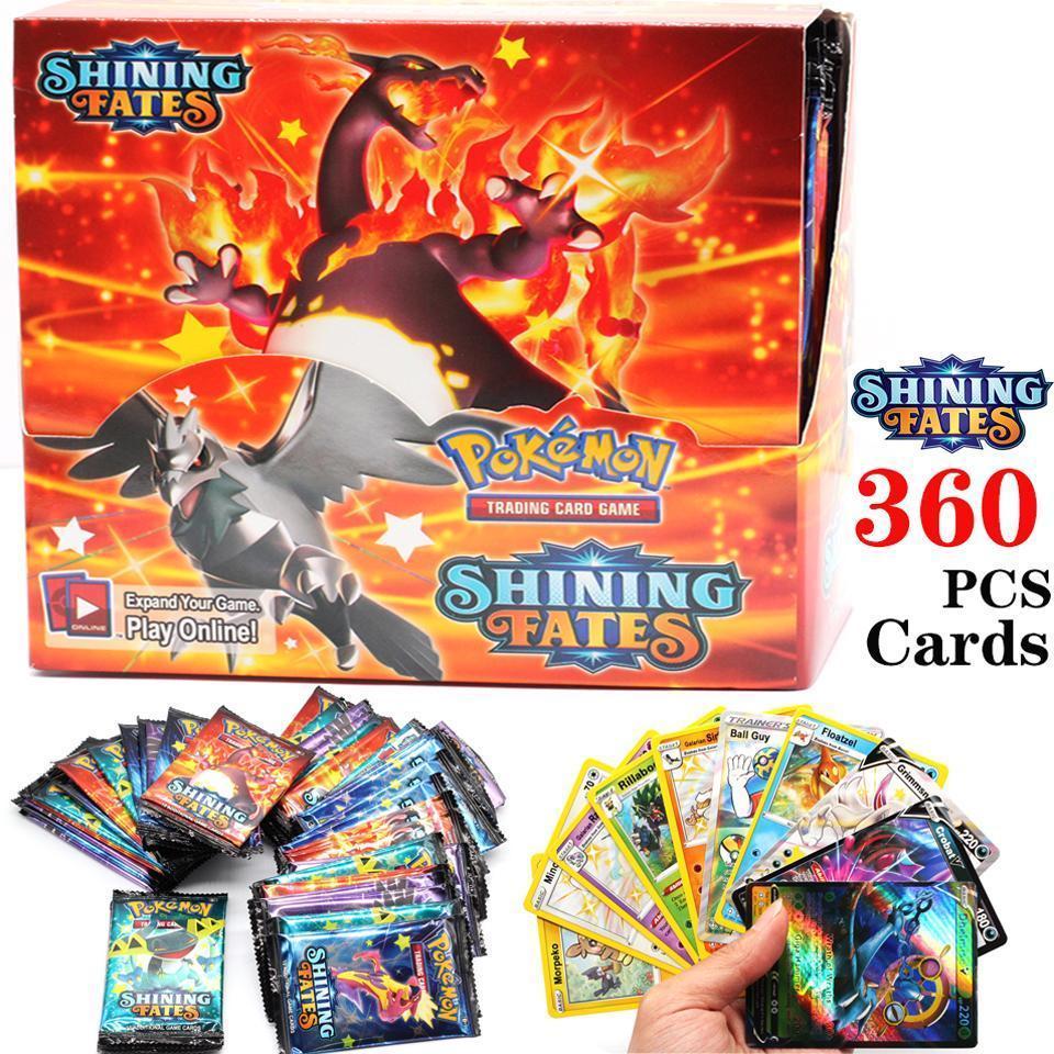 Jeu de cartes Pokemon TCG pour enfants, 360 pièces, boîte de Booster, épée et bouclier, jeu de cartes de collection