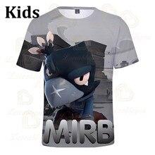 Camiseta con estampado en 3D de MIRB Crow Shoot, camiseta Harajuku para hombres, camiseta para mujeres, niños, Star Leon Tops 2020, camiseta para niños y niñas