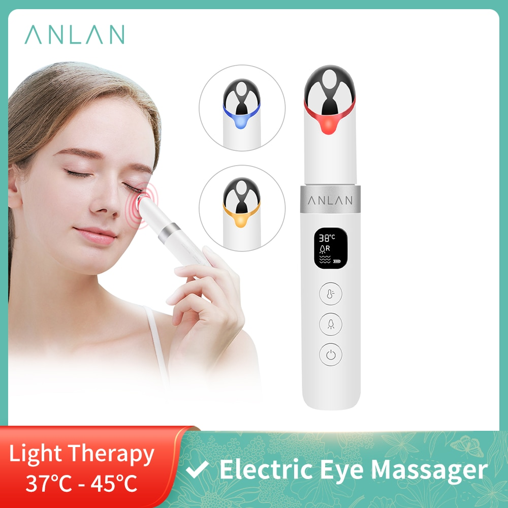ANLAN Electric Eye Face Massager Vibration Anti-Ageing Eye Wrinkle Massager Dark Circle Removal Portable Beauty Care Pen Massage