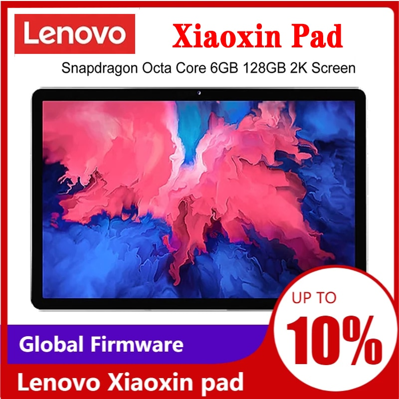 Global Firmware Lenovo Xiaoxin Pad 11 Inch 2K LCD Screen Snapdragon Octa Core 6GB RAM 128GB ROM Tablet Android 10 tablet android