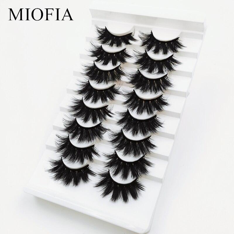 Miofia 5/8 pares 3d vison cílios naturais cílios postiços dramáticos extensões vison cílios extensão vison cílios maquiagem
