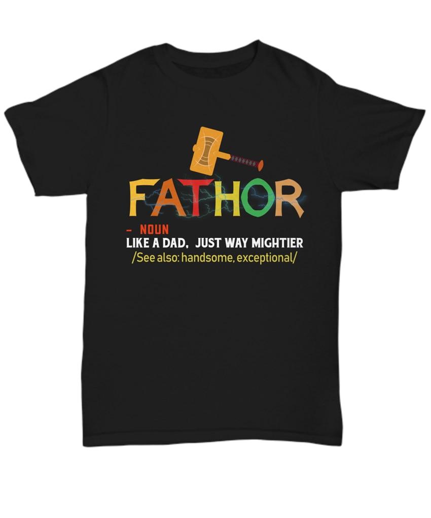 Papá divertido definición camiseta Thor para papá mejor regalo Fathor camiseta Día del Padre de los hombres de alta calidad camiseta