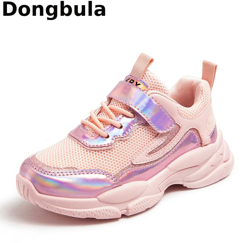 Spring Autumn New Kids Sport Shoes For Girls Running Sneakers Casual Girl Tenis Shoes Mesh Fashion C