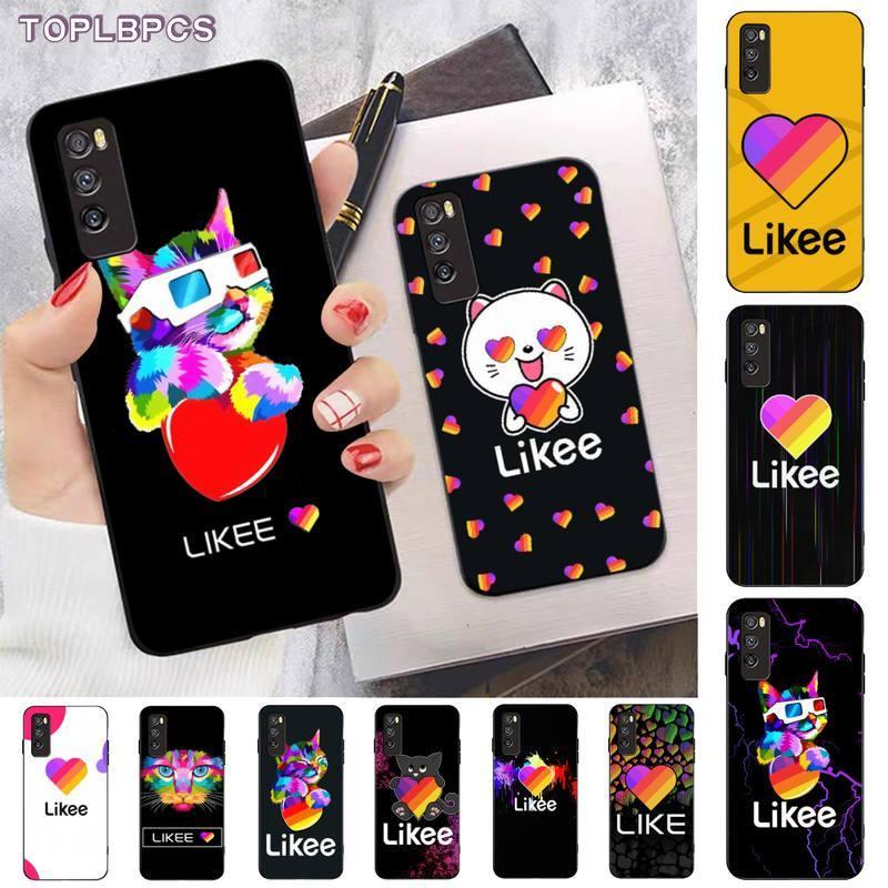 Funda de teléfono móvil TOPLBPCS Likee con diseño divertido de gato oso amor corazón negro para huawei nova 2 i 2plus 2s 3i 3e 4 4e 5 6 7 5i 7 pro 6 7se 6 5G
