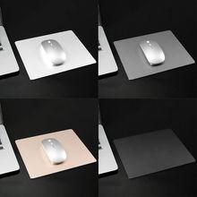 1 Pc 22x18CM Aluminum Alloy Mouse Pad Anti-slip Mousepad Gaming Mice Mat for Computer