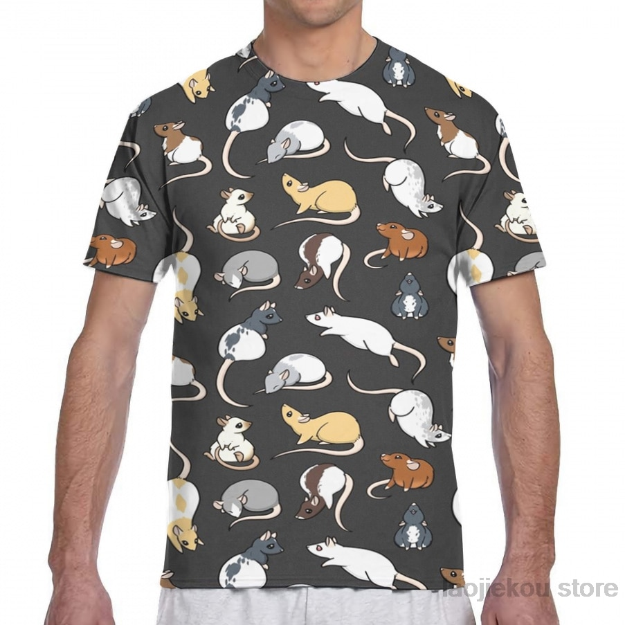 Мужская футболка с принтом крыс, женская модная футболка для девочек, футболки для мальчиков, летние футболки с короткими рукавами