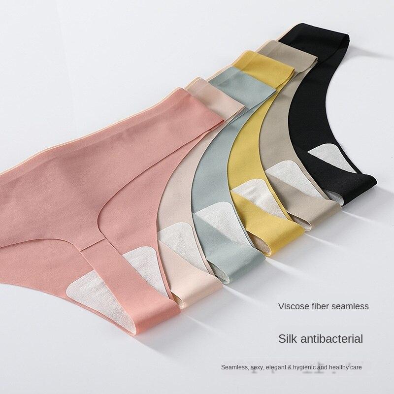 AliExpress - 2PCS New Mulberry Silk Antibacterial Sports Underwear Women 's Ice Silk Quick-Drying Seamless  Thong Maiden Sexy Hot Summer