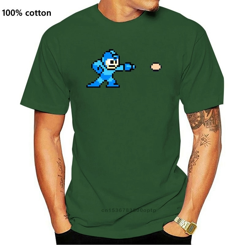 Camiseta de manga corta para hombre, Camiseta clásica de Megaman Nes, muchos...