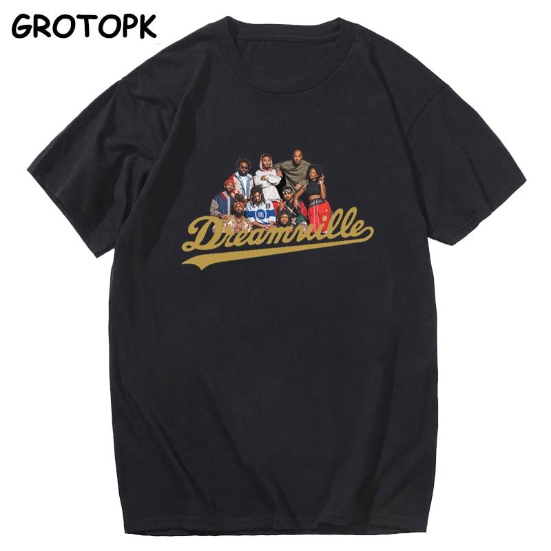 Dreamville Family Portrait J Cole T Shirt Men Fashion Hip Hop Rapper Print Men T Shirt Funny T Shirts Tees Tops Streetwear