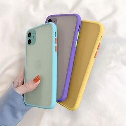 Pele sentir silicone anti queda à prova de choque fosco translucence caso do telefone para o iphone 6 s 7 8 x xs xr 11 se plus pro max 2020 capa
