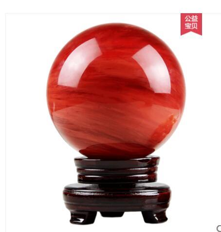 La fortuna de cristal rojo viento transferencia bola bolas hogareñas para decoración de una sala de cristal de cuarzo casa base para esfera