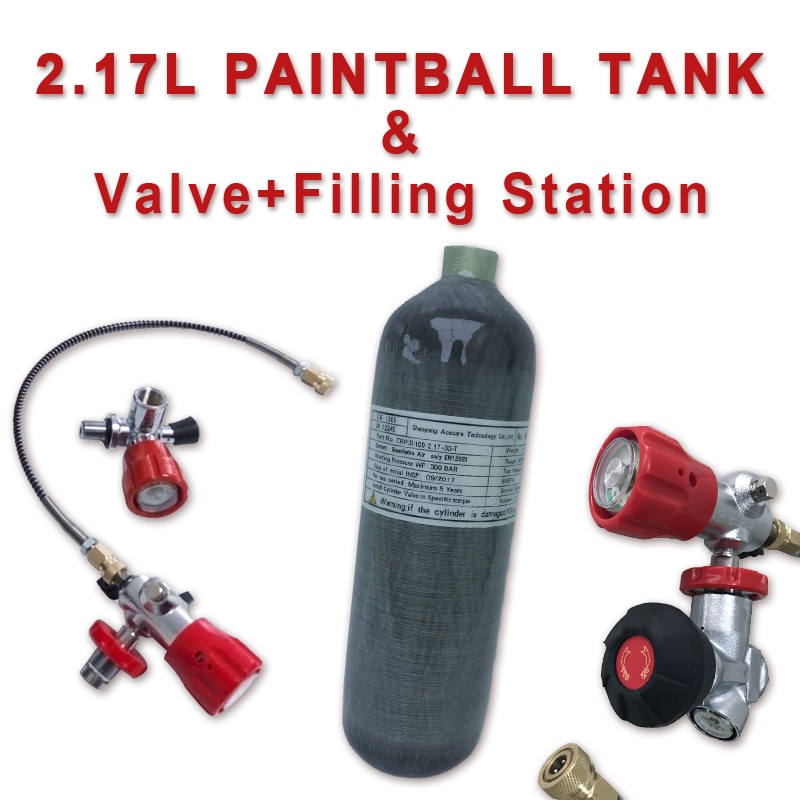 Acecare 2.17L CE Mini Scuba Diving Cylinder Pcp Air Tank Pcp Valve 4500psi Paintball Tank Pcp Rifle Airforce Pcp Condor Valve