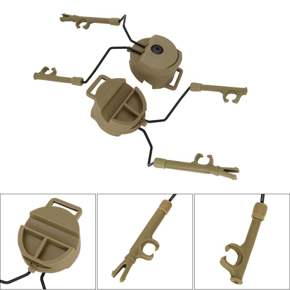 Military Peltor Helmet Headset Bracket and Fast Ops Core Helmet FAST ARC Rail Adapter for Airsoft Headphones comtac i ii iii  DE