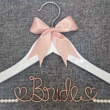 Personalized Wedding Hanger, bridesmaid gifts, name hanger, brides hanger custom ,can customize text