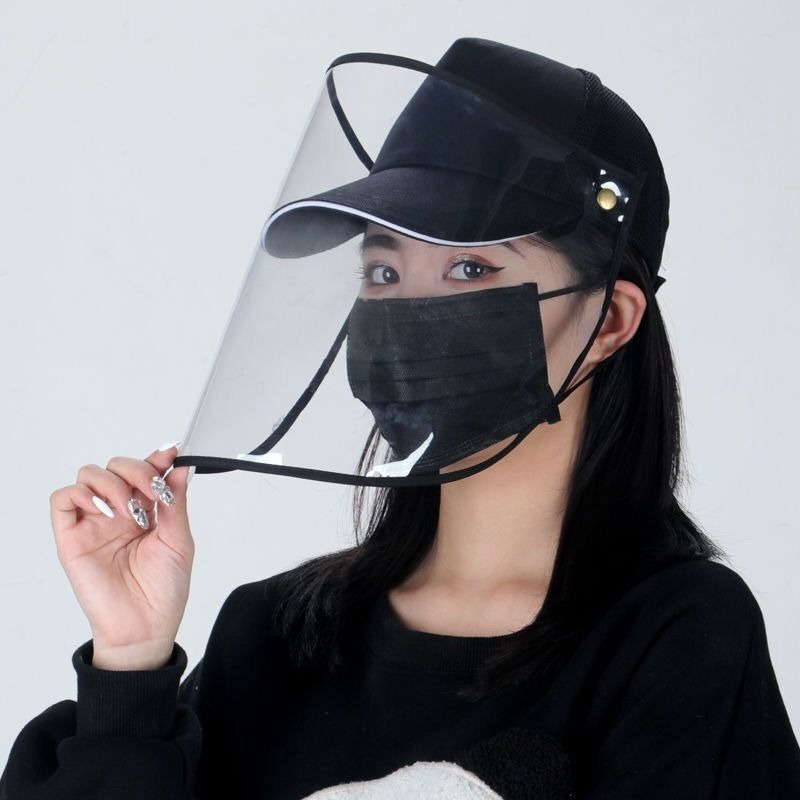 Visor Cap Women Anti-UV Lens Hats Female Plastic Wide Brim Baseball Sun Hat Casual Summer Unisex Rotating Plastic Anti-Droplet