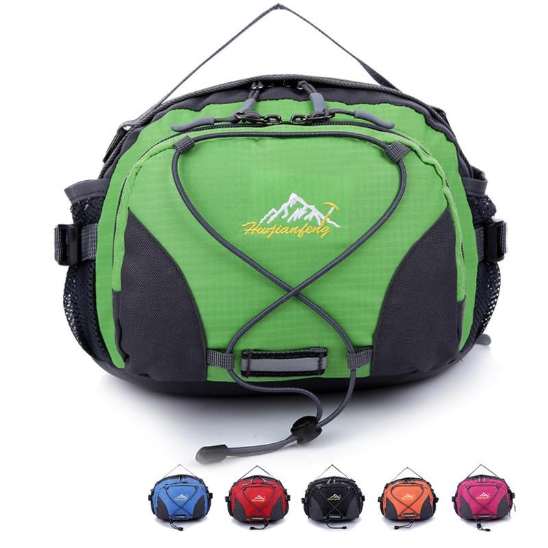 Montanhismo ao ar livre saco da cintura lazer bolsa reflexiva cinto design único ombro viagem cintura