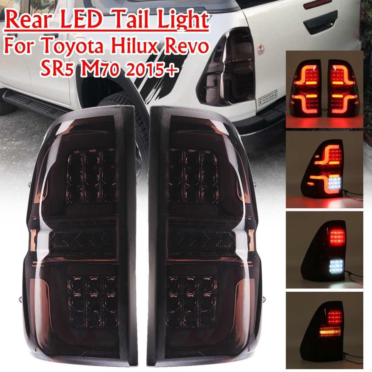 Автомобильный светодиодный задний светильник для Toyota Hilux 8 AN120 AN130 GUN1 REVO Workmate 2015 2016 2017 2018 автомобильный сигнал задний стоп Обратный фонарь