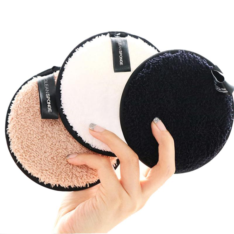 1 Uds polvo limpiador perezoso Puff reutilizable fibra maquillaje removedor Puff herramienta de maquillaje accesorios TSLM1