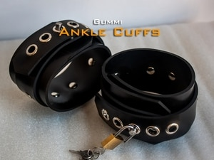 (FErubber 018) 100% Natural Latex Pure Handmade Rubber Feet Buckle The Alternative Dog Slave Bound Can Be Locked Feetcuffs