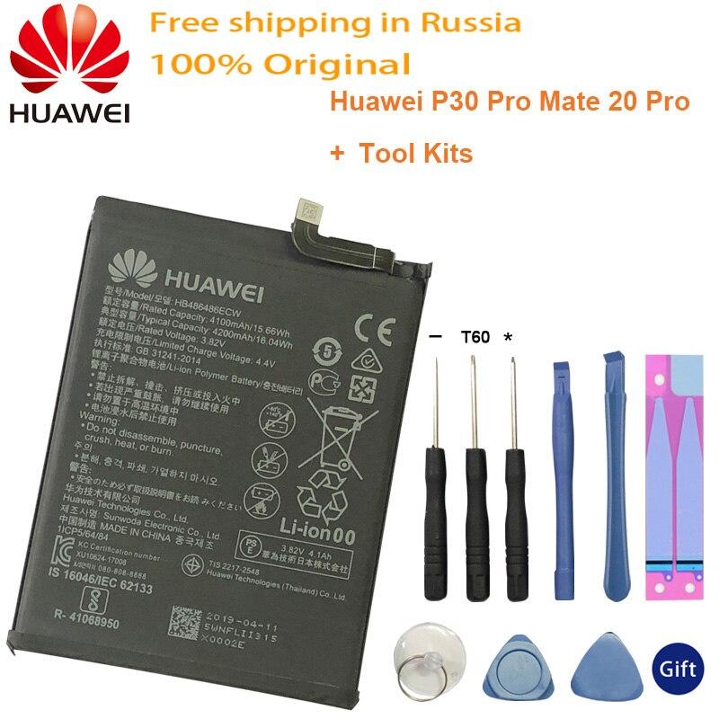Batterie de remplacement dorigine HB486486ECW pour Huawei Huawei P30 Pro Mate20 Pro Mate 20 Pro batterie de téléphone véritable 4200mAh