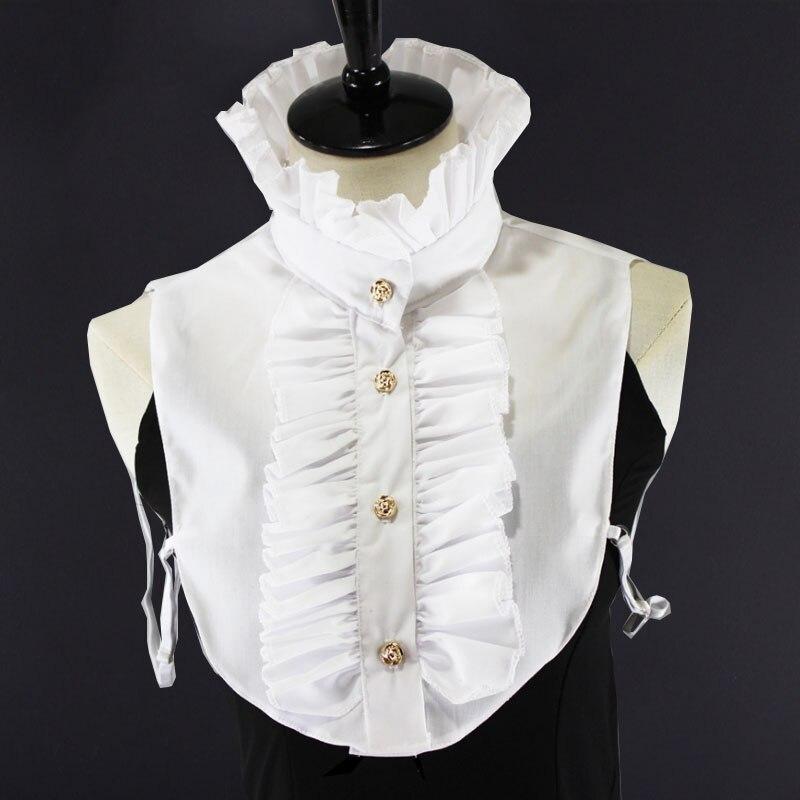 Biały damskie odpinane sztuczne kołnierze damskie koronkowe białe fałszywy kołnierz stojak kobieta wymienny pół koszula odpinany bluzka